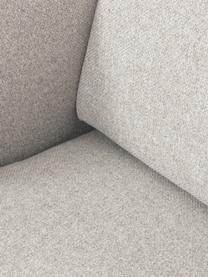 Hoekbank Fluente in beige met metalen poten, Bekleding: 80% polyester, 20% ramie, Frame: massief grenenhout, Poten: gepoedercoat metaal, Geweven stof beige, B 221 x D 200 cm