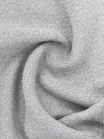 Kissenhülle Lori in Hellgrau mit dekorativen Quasten, 100% Baumwolle, Grau, 40 x 40 cm
