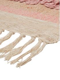 Pled Madison, 75% bawełna, 25% akryl, 5%nici lurexu, Beżowy, różowy, biały, S 130 x D 170 cm