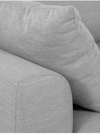 Bank Zach (3-zits) in grijs, Bekleding: polypropyleen, Poten: kunststof, Geweven stof grijs, B 231 x D 90 cm