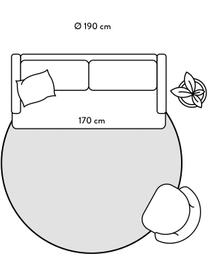 In- & Outdoor-Teppich Capri in Koralle/Creme, 86% Polypropylen, 14% Polyester, Weiß, Rot, Ø 200 cm (Größe L)