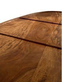 Bijzettafelset Sham van sheeshamhout, Tafelblad: massief sheesham hout, ge, Frame: messing, Tafelblad en poten boven: sheeshamhout. Poten onder: goudkleurig, 110 x 40 cm