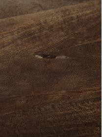 Tavolo in legno massello Oscar, Legno di mango massiccio, verniciato, Marrone scuro, L 180 x P 90 cm