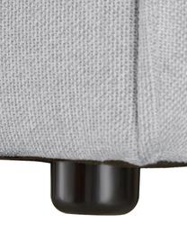 Modulare XL-Ottomane Lennon in Hellgrau, Bezug: Polyester Der hochwertige, Gestell: Massives Kiefernholz, Spe, Füße: Kunststoff, Webstoff Hellgrau, B 357 x T 119 cm