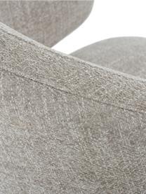 Krzesło z podłokietnikami Celia, Tapicerka: tkanina (80% poliester, 2, Nogi: metal malowany proszkowo, Tapicerka: jasny szary Nogi: czarny, matowy, S 57 x G 62 cm
