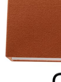 Lampada da tavolo Face Orange, Paralume: cotone, Struttura: acciaio verniciato a polv, Asta: acciaio ottonato, Arancione, nero, Larg. 40 x Alt. 66 cm