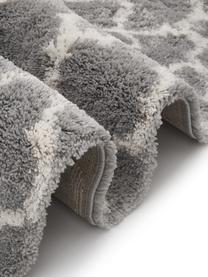 Hochflor-Teppich Mona in Grau/Cremeweiß, Flor: 100% Polypropylen, Grau, Cremeweiß, B 300 x L 400 cm (Größe XL)