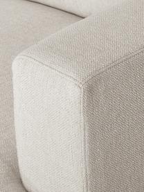 Bank Tribeca (3-zits) in donkerbeige, Bekleding: 100% polyester, Frame: massief beukenhout, Poten: massief gelakt beukenhout, Stof donker beige, 228 x 104 cm
