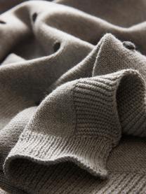 Baby-Plaid Alessia, 100% organische Baumwolle, Grau, 80 x 100 cm