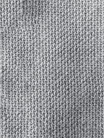 Modulare Ottomane Lennon in Hellgrau, Bezug: Polyester Der hochwertige, Gestell: Massives Kiefernholz, Spe, Füße: Kunststoff, Webstoff Hellgrau, B 269 x T 119 cm