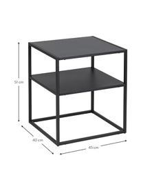 Table d'appoint en métal, noire Neptun, Noir