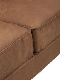 Sofa ze skóry z recyklingu Hunter (4-osobowa), Tapicerka: skóra z recyklingu (70% s, Nogi: tworzywo sztuczne, Brązowy, S 264 x G 90 cm
