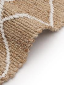 Zerbino in juta fatto a mano Kunu, 100% juta, Beige, bianco, Larg. 50 x Lung. 80 cm