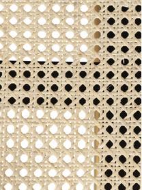 Couchtisch Exalt mit Wiener Geflecht, Gestell: Eichenholz, massiv, lacke, Tischplatte: Rattan, Schwarz, Beige, Ø 60 x H 39 cm