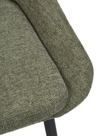 Sedia imbottita in tessuto grigio Sierra 2 pz, Rivestimento: 100% poliestere, Gambe: metallo verniciato a polv, Tessuto verde, Larg. 49 x Prof. 55 cm