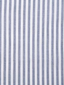 Renforcé dekbedovertrek Ellie, Weeftechniek: renforcé, Wit, donkerblauw, 140 x 200 cm