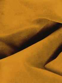 Samt-Ecksofa Moby in Senfgelb mit Metall-Füßen, Bezug: Samt (Hochwertiger Polyes, Gestell: Massives Kiefernholz, Füße: Metall, pulverbeschichtet, Samt Senfgelb, B 280 x T 160 cm