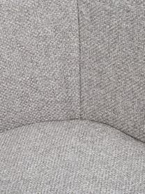 Armstoel Fiji met houten poten, Bekleding: polyester De bekleding is, Poten: massief eikenhout, Geweven stof lichtgrijs, B 59 x D 55 cm