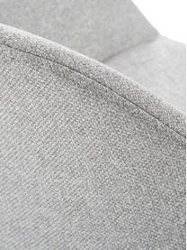 Sedia imbottita con gambe in legno Fiji, Rivestimento: poliestere Con 40.000 cic, Gambe: legno di quercia massicci, Tessuto grigio chiaro, Larg. 59 x Prof. 55 cm