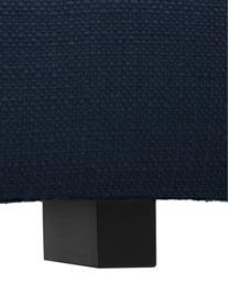 Divano angolare in tessuto blu scuro Tribeca, Rivestimento: 100% poliestere Il rivest, Struttura: legno massiccio di faggio, Piedini: legno massiccio di faggio, Tessuto blu scuro, Larg. 274 x Prof. 192 cm