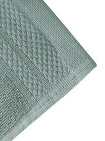 Asciugamano con bordo decorativo Premium, diverse misure, Verde salvia, Asciugamano per ospiti Larg. 30 x Lung. 30 cm