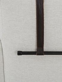 Hoekbank Brooks in beige met metalen poten, Bekleding: polyester, Frame: gelakt grenenhout, Poten: gepoedercoat metaal, Beige, B 315 x D 148 cm