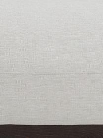 Hoekbank Brooks in beige met metalen poten, Bekleding: polyester, Frame: massief grenenhout, Frame: grenenhout, gelakt, Poten: gepoedercoat metaal, Geweven stof beige, B 315 x D 148 cm