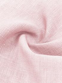 Linnen kussenhoes Luana in roze met franjes, 100% linnen, Oudroze, 30 x 50 cm