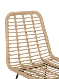 Chaise de bar polyrotin Sola, Brun clair