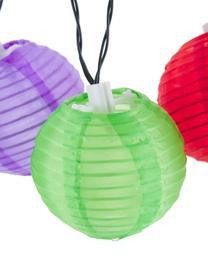 Girlanda świetlna LED Lampion, 380 cm i 10 lampionów, Wielobarwny, D 380 cm