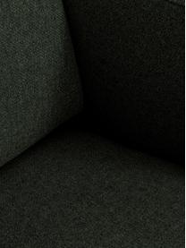 Chaise longue in tessuto verde scuro Fluente, Rivestimento: 100% poliestere Con 40.00, Struttura: legno di pino massiccio, Piedini: metallo verniciato a polv, Tessuto verde scuro, Larg. 202 x Prof. 85 cm