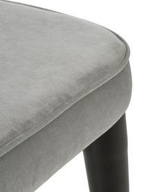 Chaise classique velours rembourré Cleo, Velours gris