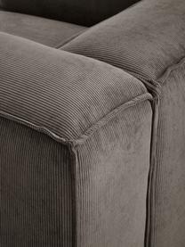 Sessel Lennon in Braun aus Cord, Bezug: Cord (92% Polyester, 8% P, Gestell: Massives Kiefernholz, Spe, Füße: Kunststoff Die Füße befin, Cord Braun, B 130 x T 101 cm