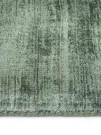 Handgewebter Viskoseteppich Jane in Grün, Flor: 100% Viskose, Grün, B 300 x L 400 cm (Größe XL)