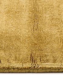 Tappeto in viscosa Jane Diamond, Retro: 100% cotone, Giallo senape, Larg. 120 x Lung. 180 cm (taglia S)