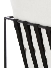 Polstersessel Wayne mit Metall-Gestell, Bezug: 80% Polyester, 20% Baumwo, Gestell: Metall, pulverbeschichtet, Webstoff Weiss, B 69 x T 74 cm