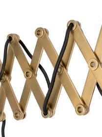 Applique con spina Sarana, Paralume: metallo verniciato a polv, Struttura: metallo, Ottonato, bianco, Larg. 17 x Prof. 36 a 64 cm