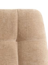 Sedia imbottita in velluto Hope, Rivestimento: 100% velluto di poliester, Gambe: metallo, Beige, nero, Larg. 42 x Prof. 44 cm