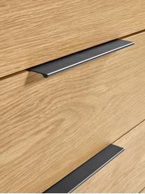 Szafka z 4 szufladami Stellar, Korpus: płyta pilśniowa średniej , Czarny, drewno dębowe, S 100 x W 90 cm