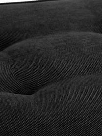 Banc bout de lit capitonné noir/blanc Mia, Noir