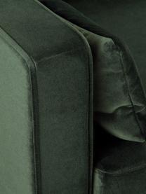 Samt-Sofa Alva (3-Sitzer) in Grün mit Buchenholz-Füßen, Bezug: Samt (Hochwertiger Polyes, Gestell: Massives Kiefernholz, Füße: Massives Buchenholz, gebe, Samt Olive, B 215 x T 92 cm