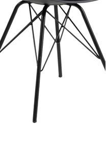 Kunststoff-Stühle Eris, 2 Stück, Sitzschale: Kunststoff, Beine: Metall, pulverbeschichtet, Schwarz, B 49 x T 54 cm