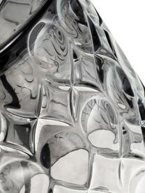 Lampada da comodino Crystal Glow, Paralume: miscela di cotone, Base della lampada: vetro, Grigio, nero, Ø 15 x Alt. 29 cm
