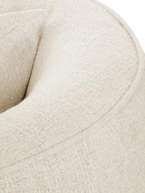 Poltrona Bouclé Elodie, Rivestimento: Bouclé (70% poliestere, 2, Struttura: massiccio legno di betull, Piedini: materiale sintetico, Bouclé bianco crema, Larg. 86 x Prof. 62 cm