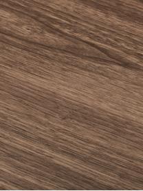Owalny stół do jadalni z forniru z drewna orzechowego Joni, Płyta pilśniowa średniej gęstości (MDF) z fornirem z drewna orzechowego, lakierowana, Fornir z drewna orzechowego, S 200 x G 90 cm