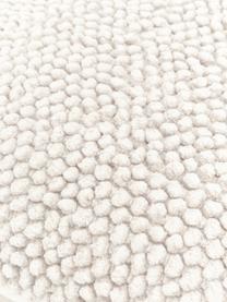 Kissenhülle Indi mit strukturierter Oberfläche in Cremeweiß, 100% Baumwolle, Gebrochenes Weiß, 45 x 45 cm