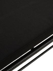 Panca da giardino intrecciata Costa, Seduta: intreccio in polietilene, Struttura: metallo verniciato a polv, Rivestimento: poliestere, Nero, Larg. 126 x Prof. 68 cm