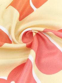 Leichtes Strandtuch Sunshine in Gelb mit Aufschrift, 55% Polyester, 45% Baumwolle Sehr leichte Qualität, 340 g/m², Gelb, Mehrfarbig, 70 x 150 cm