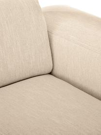 Sofa Melva (2-Sitzer) in Dunkelbeige, Bezug: 100% Polyester Der hochwe, Gestell: Massives Kiefernholz, FSC, Füße: Kunststoff, Webstoff Dunkelbeige, B 198 x T 101 cm
