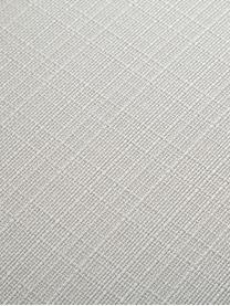 Armleunstoel Isla, Bekleding: polyester De bekleding is, Poten: gepoedercoat metaal, Geweven stof crèmewit, poten zwart, B 58 x D 62 cm